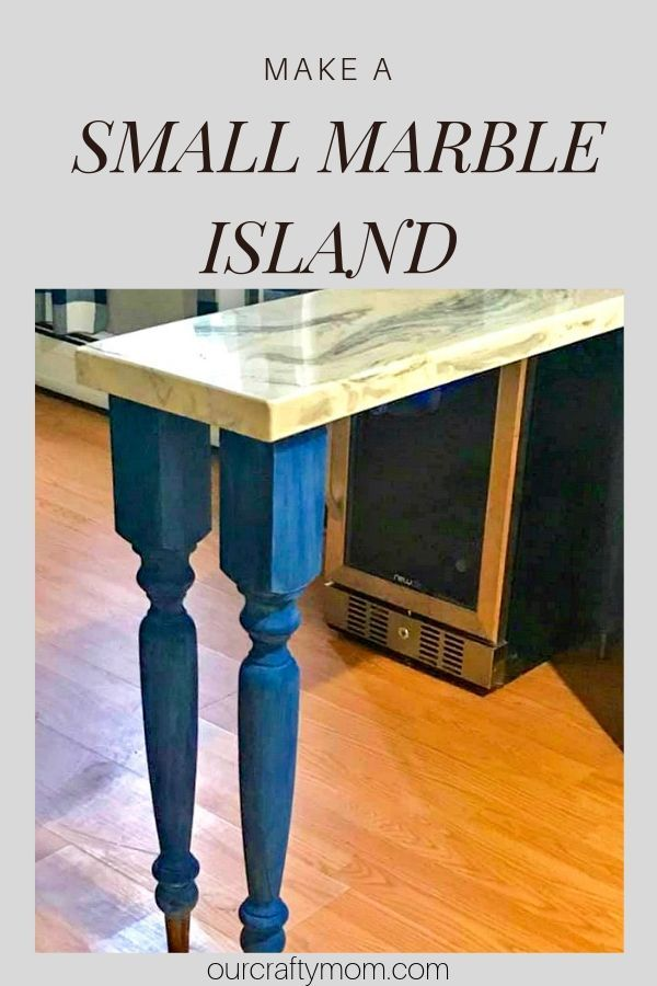 How To Make A Small Kitchen Island With A Marble Top Small Kitchen Island Marble Top Kitchen Island Small Kitchen