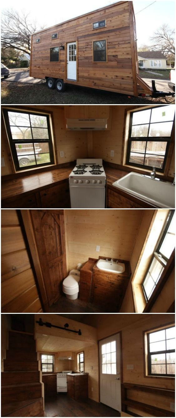 "320sf Spacious Tiny House for Sale in Austin, Texas for Under $50k Nomadic Builders is a tiny house company out of Austin, Texas and one of their awesome models is currently for sale for a great price of $49,950! The ""Big Sky"" tiny house is a 320 square foot home that feels much larger than its measurements thanks to a great design and layout. The home is wrapped in cedar tongue and groove panels with cedar trim on the outside and has exterior storage compartments."