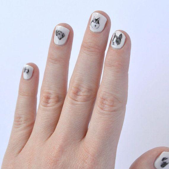 dog nail art 40 dog nail transfers puppies by helloharriet