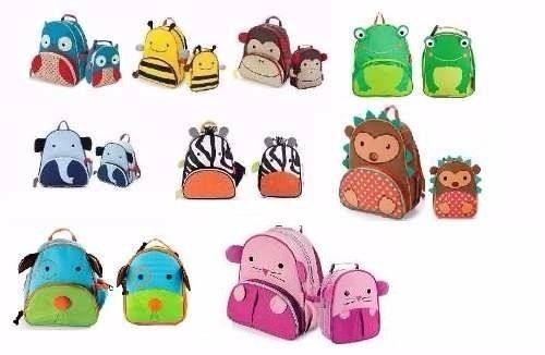 Mochila   Lancheira Infantil Tipo Skip Hop Zoo Escola Creche