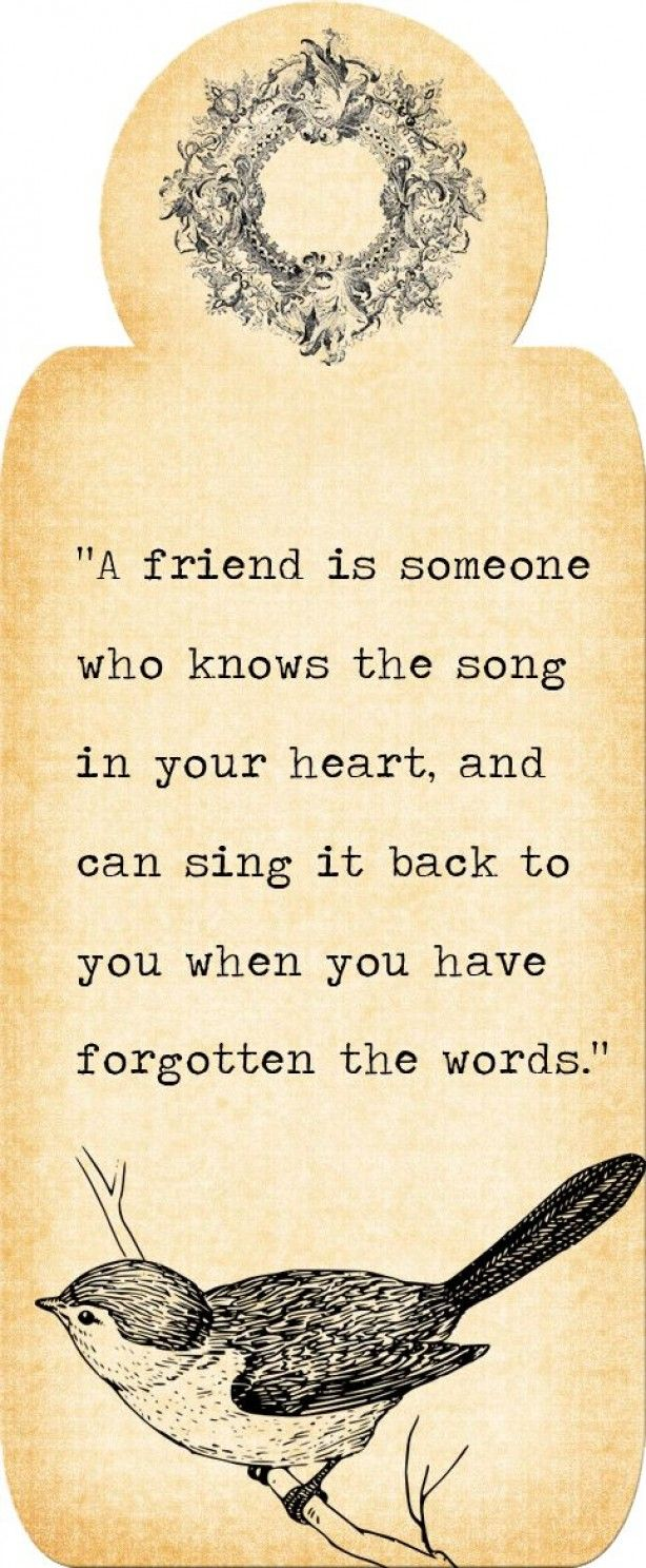 A friend is..