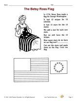 The Betsy Ross Flag: Increase social studies skills with an activity that focuses on the American flag. #FlagDay #UShistory #socialstudies