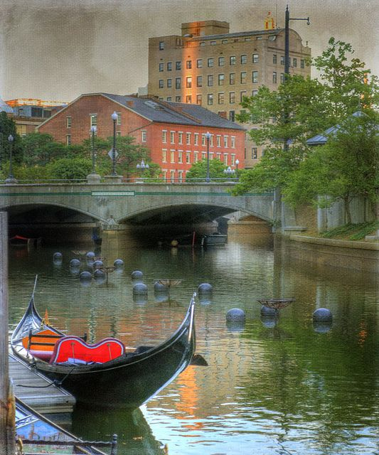 Rhode Island's capital features La Gondola, Providence. The boats are restored originals and the gondoliers are trained singers and sometimes musicians. This romantic turn on the Providence River is perfect for your small wedding, anniversary or proposal.