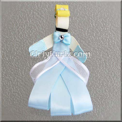 Cinderella Ribbon Sculpture Hair Clip Princess Hair Clip Princess Hair Bow. $7.97, via Etsy.