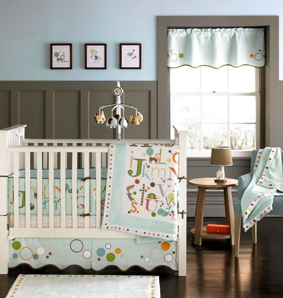 Alphabet Baby Crib Bedding By Migi MiGi Set Is Adorned With The ABCs