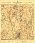 Map of the battlefield of Gettysburg. July 1st, 2nd, 3rd, 1863