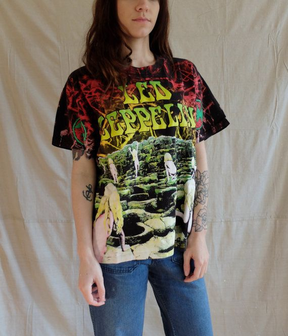 vintage 90s Led Zeppelin House of the Holy T by SweeetLeafVintage