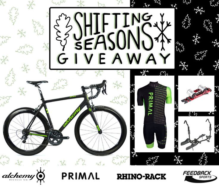 One lucky winner will take home a custom carbon Alchemy frame, free Primal cycling kits for life, a Feedback Sports Omnium portable trainer, and a Rhino-Rack Dual Trekker bike rack!