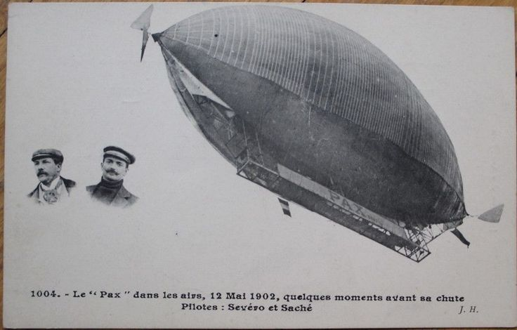 Airship/Dirigible/Blimp 1905 French Aviation Postcard: 'Le Pax' - Dirigeable -1 | eBay