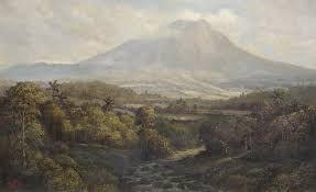 Abdullah sr., Mountain landscape, 71 x 139
