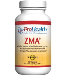 ZMA (ZMA  Supplement). Sleep and Muscle Support with Zinc & Magnesium. Promotes restful, restorative sleep.  Supports healthy levels of insulin-like growth factor (IGF-1).  Enhances muscle strength and endurance.  Patented SNAC  formula. Available at ProHealth.com ($15.49) #ProHealth