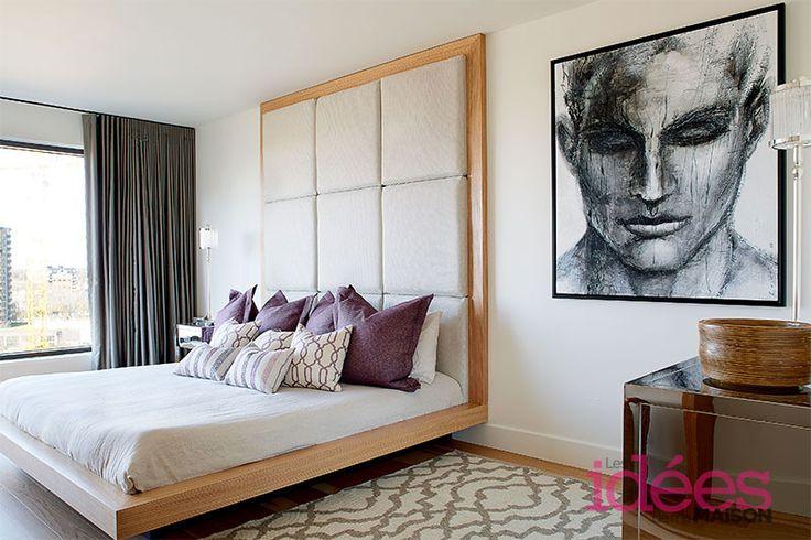 Un condo moderne et chaleureux | Les idées de ma maison Photo: ©TVA Publications | Yves Lefebvre #deco #condo #moderne #decor #chaleureux #chambre