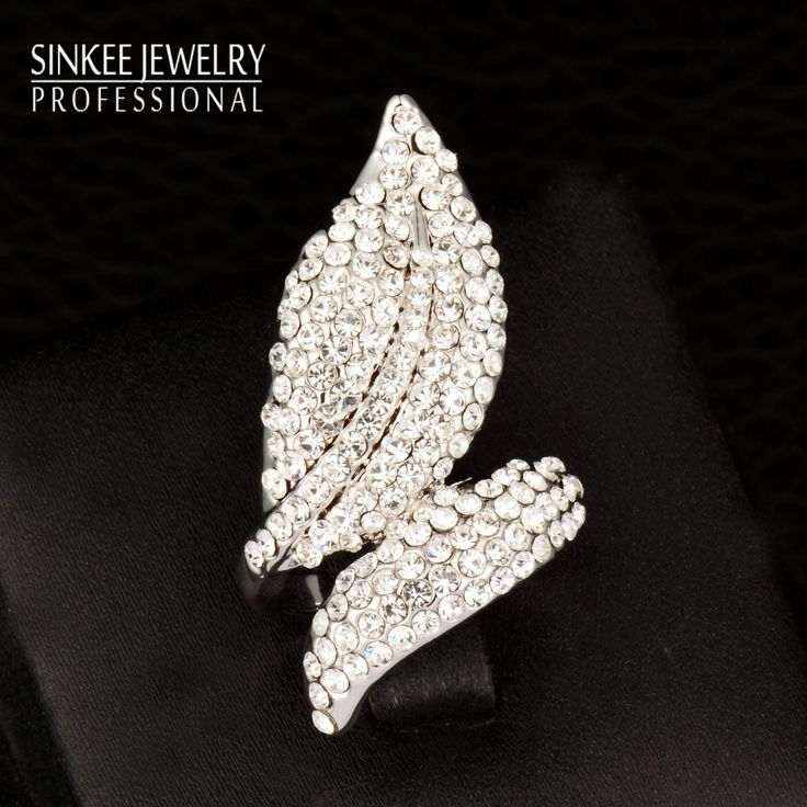 Find More Rings Information about 2016 Luxury Vinatge White/Purple/Gray Leaf Cubic Zircon Big Rings For Women Wedding Engagement 18K White Gold Plated Jz540,High Quality ring mug,China ring ring ring ring ringtone Suppliers, Cheap ring swimsuit from SINKEE JEWELRY Store on Aliexpress.com