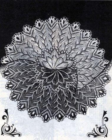 Кружевные салфетки спицами -3 / Вязание спицами / Вязание для женщин спицами. Схемы вязания спицами