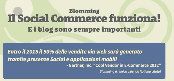 e-commerce social media: i primi dati in Italia sono di Blomming, l'infografica