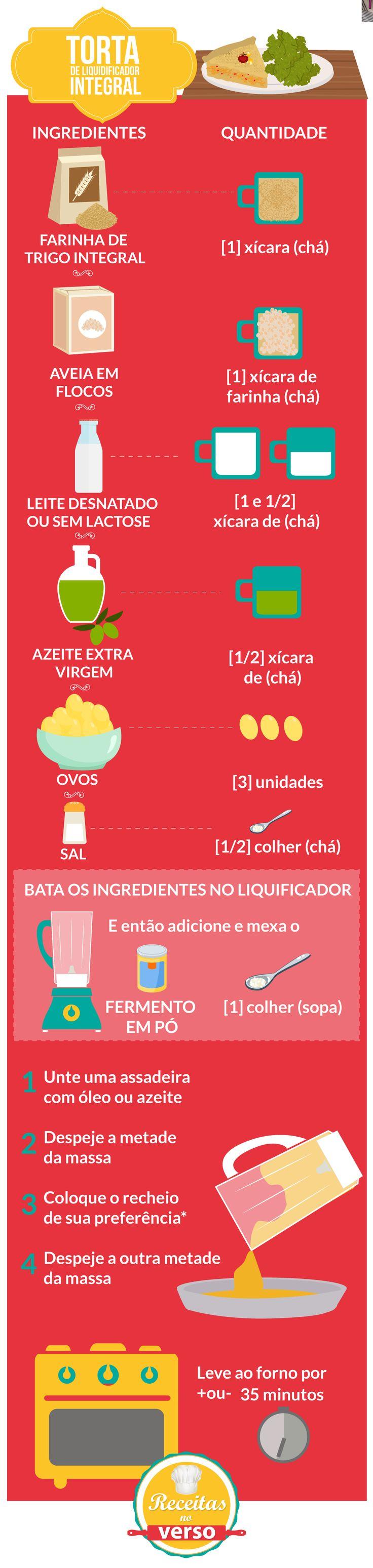 TORTA DE LIQUIDIFICADOR – MASSA INTEGRAL