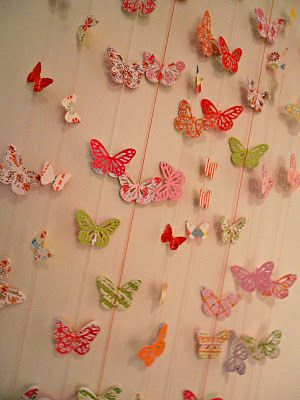 Giggleberry Creations!: Butterfly Party - Paper Butterfly Garlands!