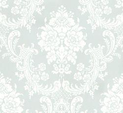 Lim & Handtryck Tapet - Förde ljusblå/vit - 118-125-1