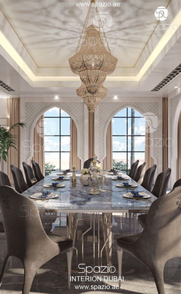 Modern Moroccan Style Interior Design And Home Decor In Dubai Interior Design Dining Room Luxury House Interior Design Dining Room Interiors