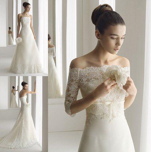 Real-Images-Free-Shipping-Sundayfrog-A-Line-Beaded-Lace-Off-Shoulder-Bolero-Jacket-Court-Train-Wedding