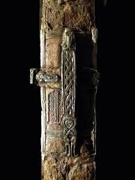 Valsgärde users.stlcc.edu Decorated metal midsection of the sword sheath placed with burial 7 at Valsgärde.