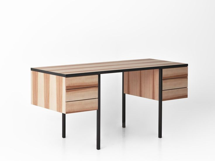 Gamfratesi. Wood, leather, 50s inspiration