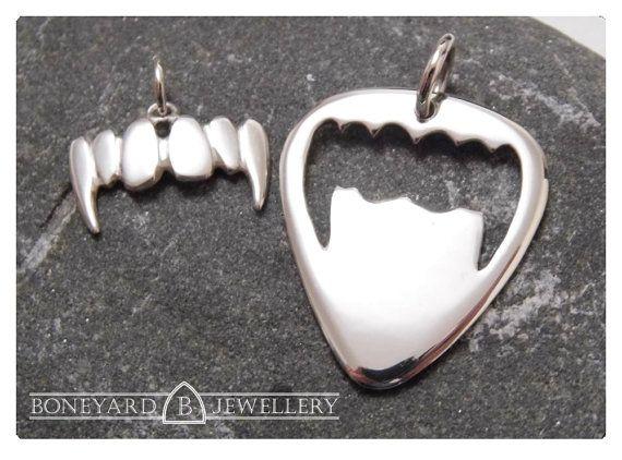 Sterling Silver Vampire Fang pendant & by BoneyardJewellery, £39.99