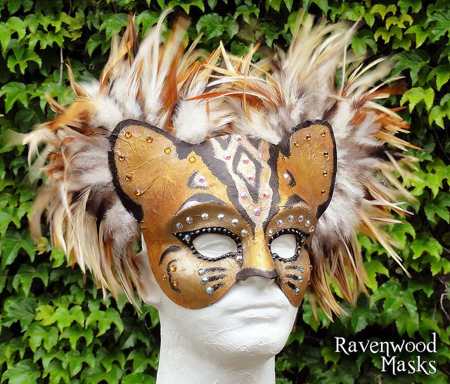 Bengal Cat masquerade mask