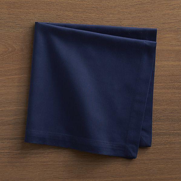 Fete Blue Cotton Napkin | Crate and Barrel