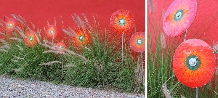 pinchos de flores para exterior diferentes medidas y colores