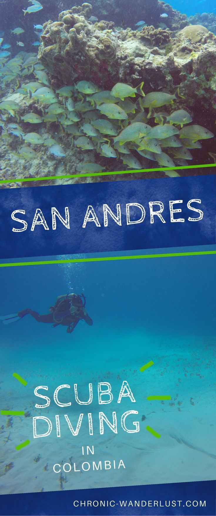 Amazing spots for scuba diving in San Andrés in Colombia