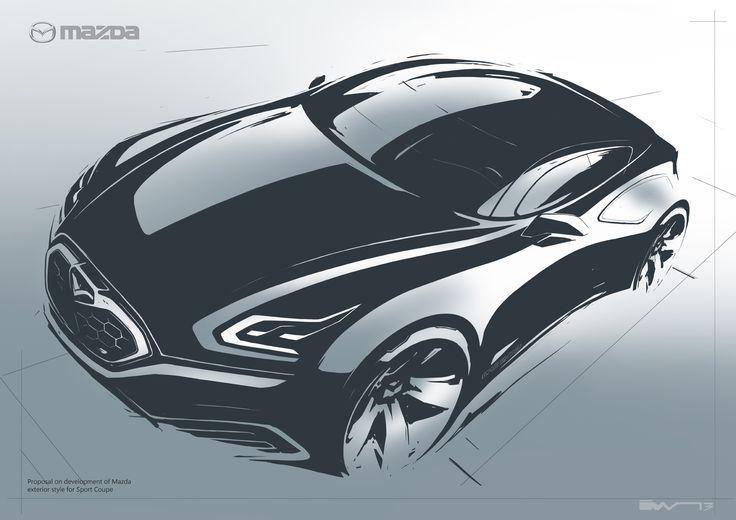Mazda concept sketch by Iv Volkov