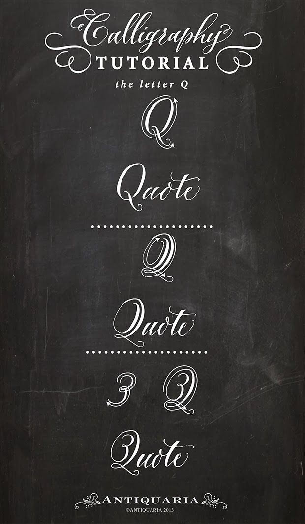 80 Best Calligraphy The Letter Q Images On Pinterest