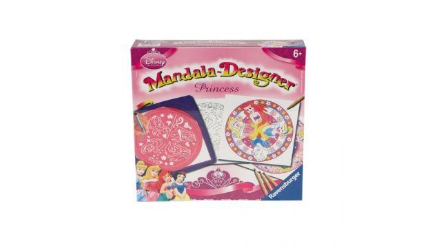 Ravensburger Mandala Tekenen Midi Disney Princess 2in1  Met deze mandala-sjabloon kun je de mooiste mandala's ontwerpen. Gewoon een vel papier tussen het frame en de sjabloon leggen en je kunt beginnen. Voor ieder keer dat je een patroon wilt herhalen draai je de sjabloon een pijl verder. Tenslotte nog inkleuren en klaar is je zelfontworpen mandala. Inhoud: 1 frame 1 mandala-sjabloon 10 vellen papier 1 viltstift 4 kleurpotloden  EUR 21.95  Meer informatie