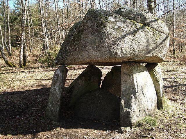 Dolmen near Crocq, Central France