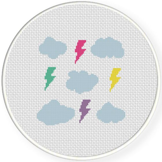 FREE for July 11th 2015 Only - Fun Sky Cross Stitch Pattern