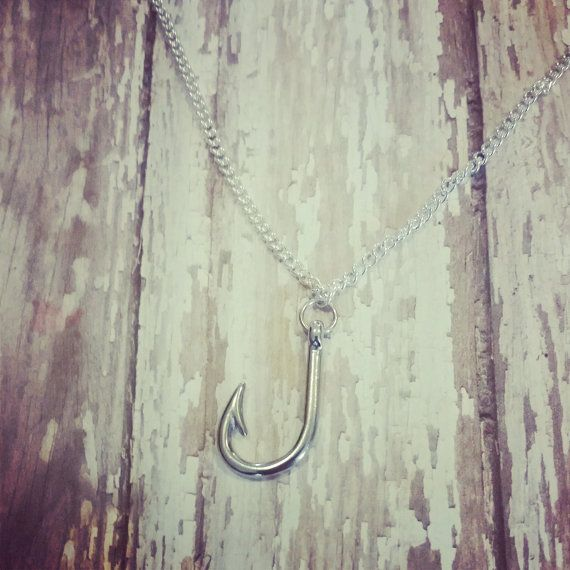 fish hook necklace for the country girl who by BulletBabeDesigns, $15.00 Country Girl. Hunting. Fishing Jewelry. Bullet Jewelry. Redneck. Country Boy. Country. Deer Hunting. Fishing Girl. Browning. Camo. Realtree. Mossy Oak. Guns. Firearms. Shotgun Shell Jewelry. Archery. Bowhunting. Farm Girl. Farm Boy. 4H. FFA.