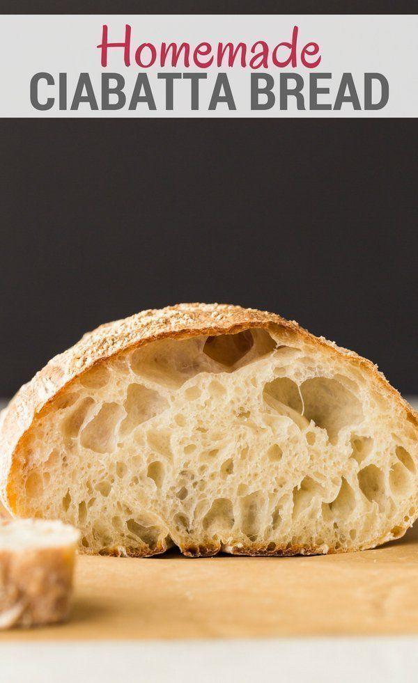 Homemade Ciabatta Bread | Recipe | Homemade ciabatta bread ...