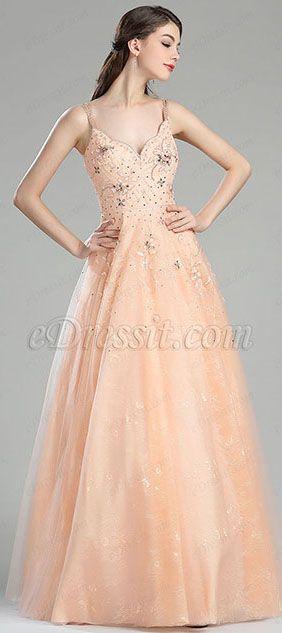 702cbe9f14 Peach Prom Gown Graduation Dress (36180410)