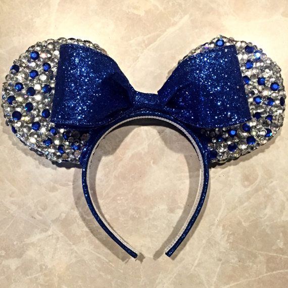 Bedazzled Royal Blue Princess Ana Minnie Mouse by MouseketeerEars