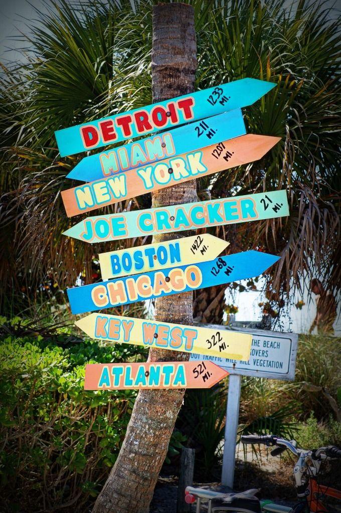 Directional sign, Venice Beach, Florida