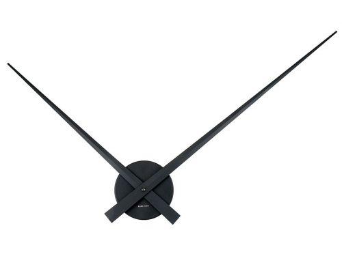 Nástěnné hodiny Little Big Time alu černé 76 cm, Karlsson