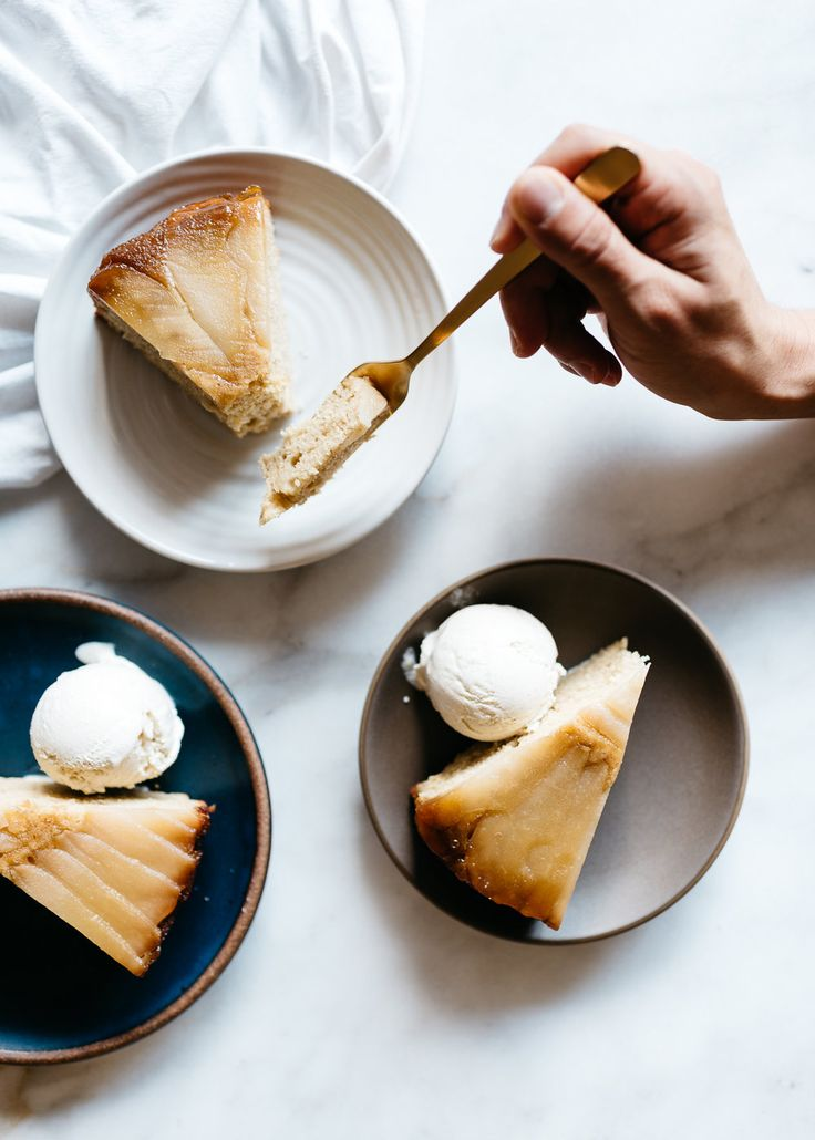 Cardamom Pear Upside-Down Cake from Julia Turshen's Small Victories
