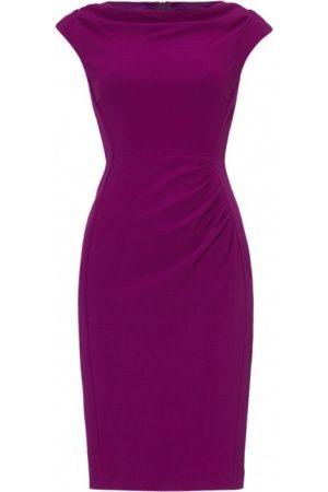 Casual jurken - L.K. Bennett Lila jurk met gedrapeerde halslijn in