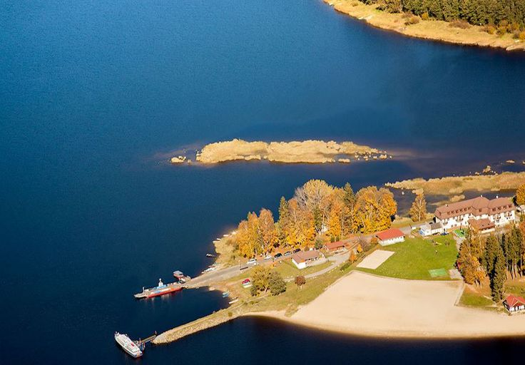 Lipno lake at Horní Planá (South Bohemia), Czechia