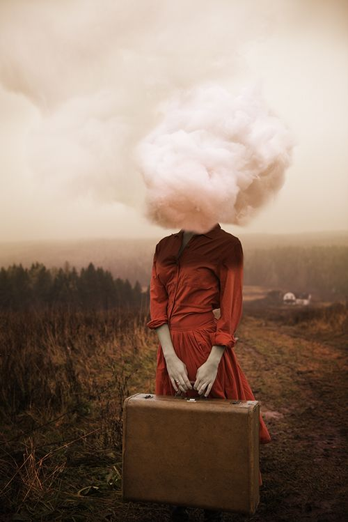 Alicia Savage's Imagined series features surreal self portraits that explore her own emotions.