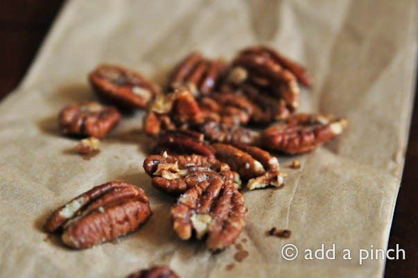 Roasted pecans make everything better. A quick, delicious recipe for roasted pecan halves that are great as an appetizer, snack, or on your favorite salad.