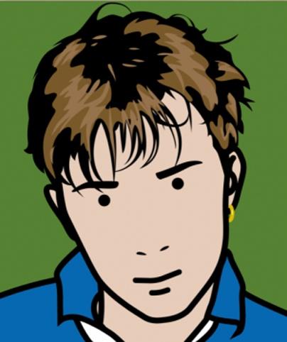 Damon -artiste Julian Opie