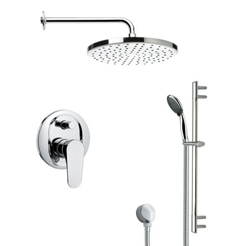 Shower Faucet - Remer Rendino Round Polished Chrome Shower Faucet Set SFR7048