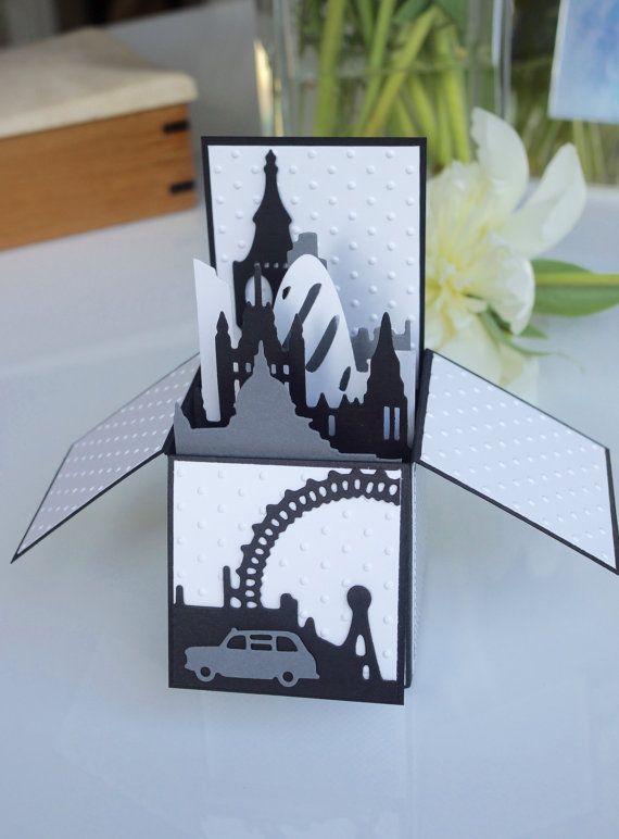 Black&White London Card by AnnaChildsDesign on Etsy